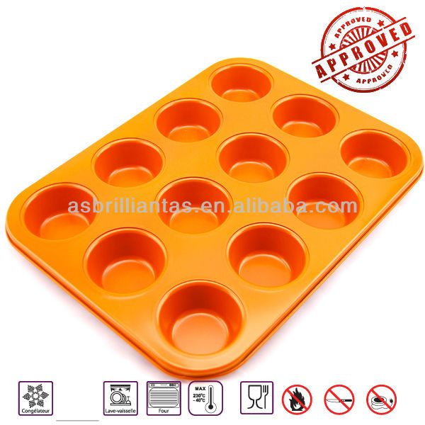 12 cavity Ceramic coating Non Stick muffin pan