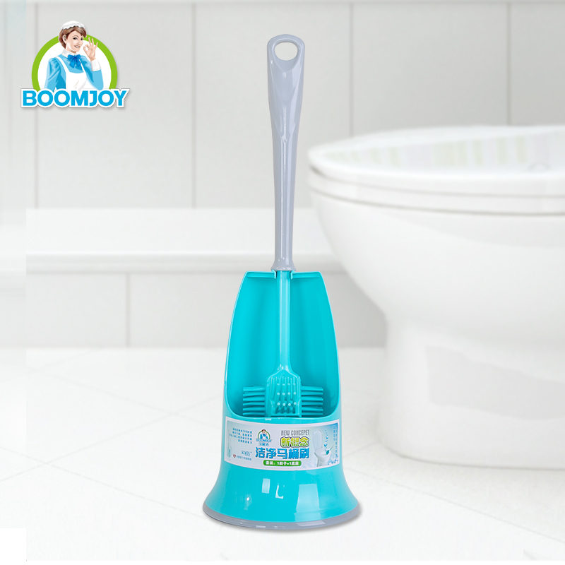 new design plastic double sided curved toilet bowl brush with holders cleaning brush set with base unique toilet brush holder