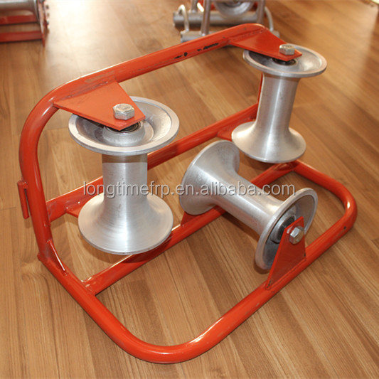 Stainless steel wire rope pulley, Aluminum Nylon Triple cable pulley, Cable laying roller