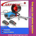 anti-hijacking one way safeguard car alarm system with universal remote control key