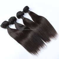 Double Weft very cheap hair extensions Unprocessed Brazilian Silky Straight 8 Inch Virgin Remy Human Hair Weft Color #1