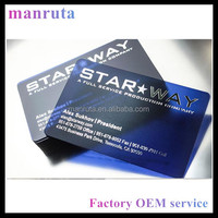 Manruta Leading Manufacture transparent business cards with colored frost small MOQ