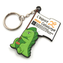 hot sale custom molded plastic rubber soft animal keyrings keychains key chains