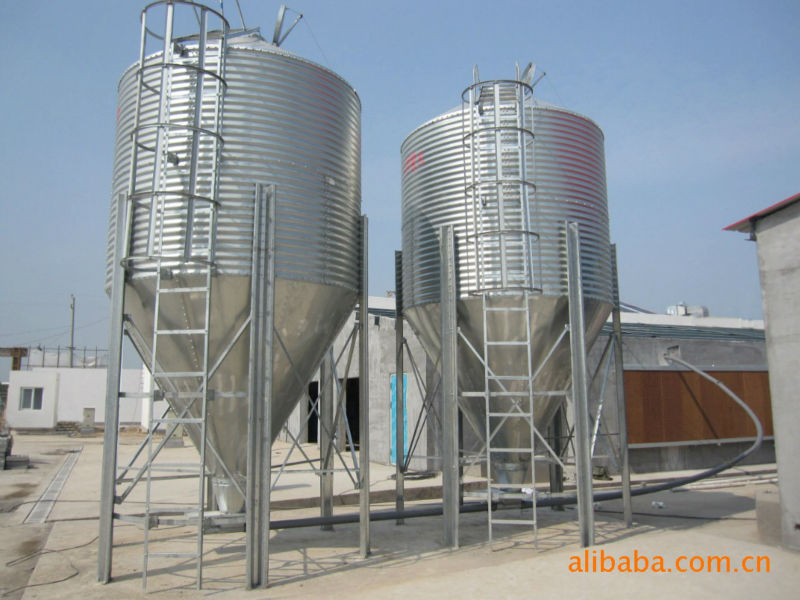 Feeding silo for poultry house