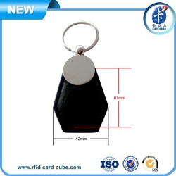 NFC NTAG213 leather key fobs rings wholesale