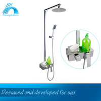 Top Quality Reasonable Price Flat Top Mixer Tap Design Massage Bathroom Shower Mixer