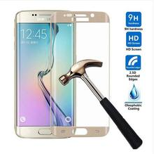 2016 Cheap Price Ultra Thin Galaxy S6 Edge kristall liquid Screen Glass screen protector for Samsung Cell Phone