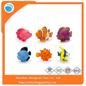 ICTI certificated custom non-toxic ocean fishes bath toy