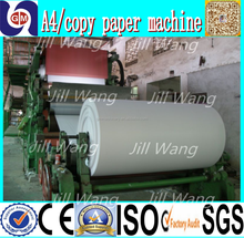 1575mm office A4 computer /copy/printing paper making machine, 20 T/D, raw material: waste paper, virgin pulp made by GUANGMAO