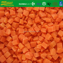 High Quality Frozen Vegetables IQF Diced Carrot Size 10*10 MM