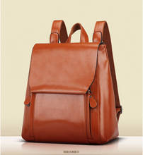 Wholesale Price Unisex Travelling Outdoor Vintage Leather Backpack Laptop Bags