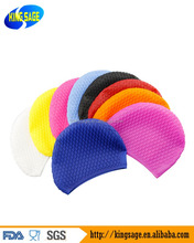 Soft Silicone Swim Cap swimming cap Bubble Design for Women and Men Perfect Protect Ear w/ Hair