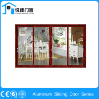 Antique design sliding glass doors interior, rolling door aluminium
