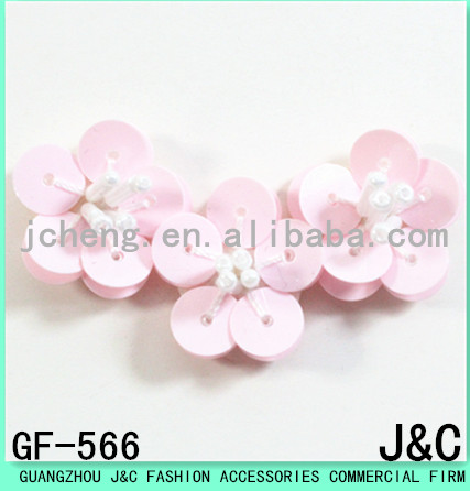2017 The latest design of pink sequins small flowers
