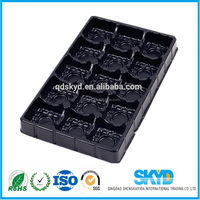 Eco-friendly material plastic blister tray for chocolate