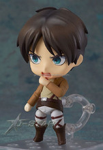 Gzdonnafashion Shipping Cute Nendoroid Attack on Titan Shingeki no Kyojin Eren Jaeger Boxed PVC Action Figure Model Collection