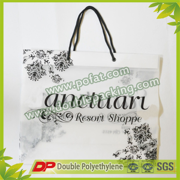 Clear Double Cotton drawstring gift bags