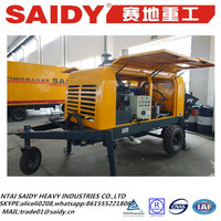 Factory price electric diesel hose putzmeister stationary SAIDY used concrete pump for sale