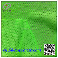 100% polyester fluorescent green mesh fabric for fashion sportswear