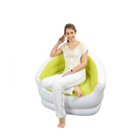 PVC Flocked Inflatable Bean Bag Chair New Air Bean Bag