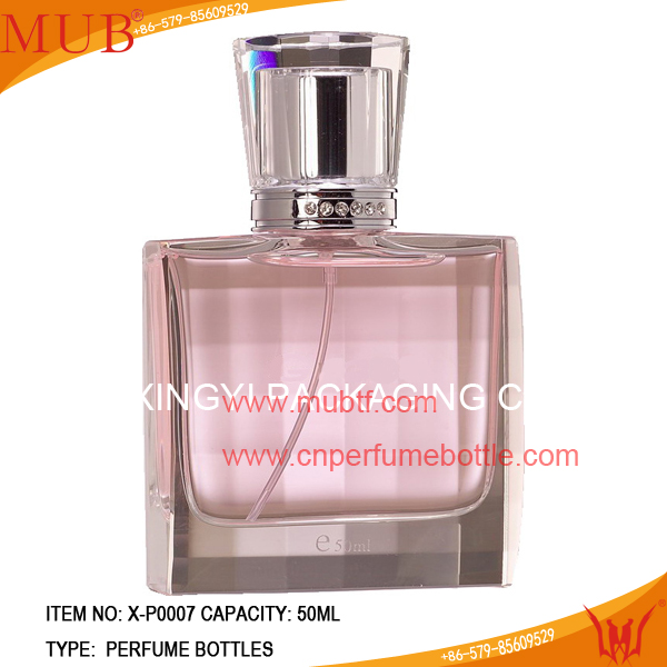 2014 clear french square glass bottle rasasi perfumes