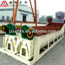 Sand washing and dewatering, spiral sand washer