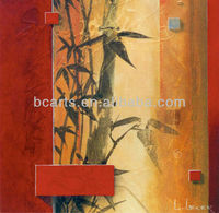 BC13-1510 Modern art bamboo oil painting for home decoration