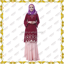 MF19219 Best selling high quality Malaysia muslim woman dress baju kebaya