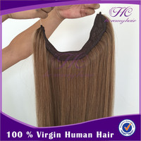 Alibaba Usa Multi Layered 120Grams Micro Weft Human Hair Extension With Fish Line