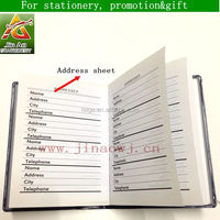 custom pocket address book for office