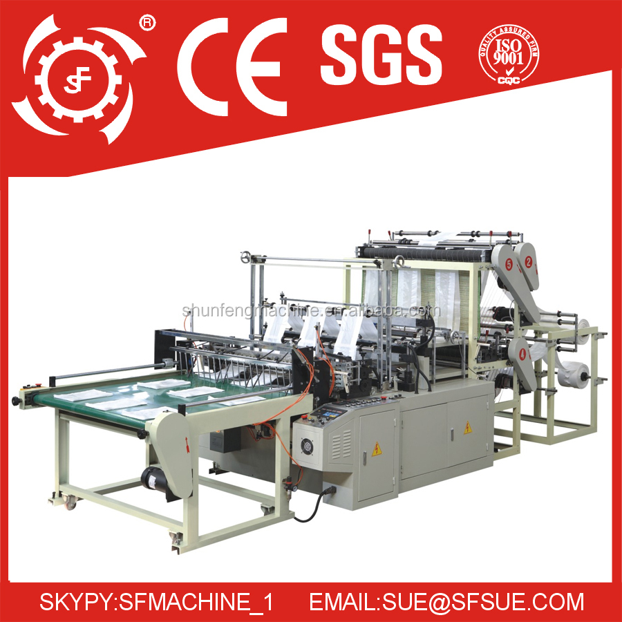 Cold cut 6 wire flat bag making machine