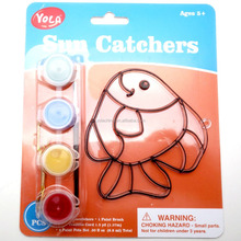 Plastic Educational Toy Fish Craft Suncatcher