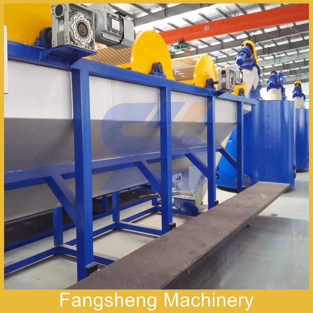 Fully automatic pet hdpe bottle flakes recycling washing line