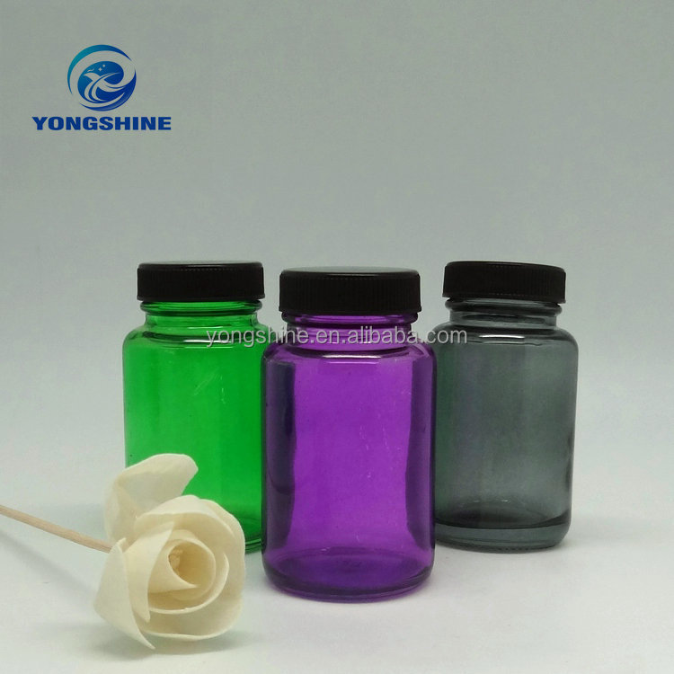 100ml new colored pharmaceutical medicinal glass bottle for pill packing