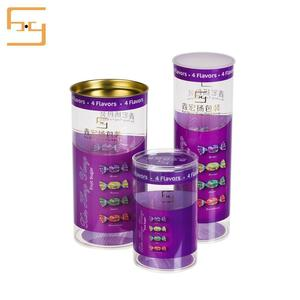 Wholesale New Design Gift Round Box Packaging Plastic Cylinder Box for Candy