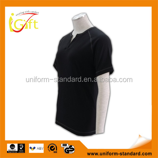 hot sell wholesale black cotton plain no brand t-shirt