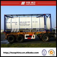 High quality diesel fuel asphalt tank semi trailer price tank containers