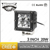 "Square Aluminum Housing 3"" LED 20W Work Light Cars High Intensity Super Bright Led Driving Light For 4x4 4WD Vehicle Offroad"