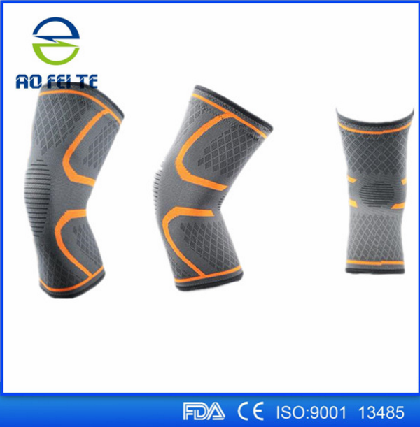 2017 Alibaba China Aofeite nylon neoprene knee brace sport customized knee support