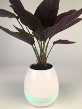 Wireless music flower pot with magic touch flower pot singing