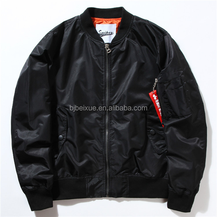 ma-1 Bulk wholesale mens winter baggy jacket quilted mens nylon flight jacket