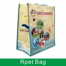 custom whosale factory price recyclable rpet shopping bag