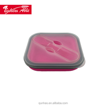 Excellent Material Best Quality Reasonable Price silicone folding lunch box