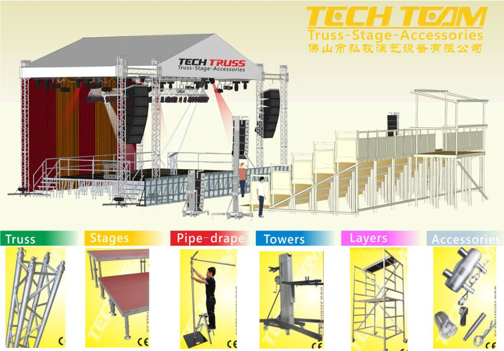 Outdoor Heavy Duty Lifting Tower Truss Lighting Stand/Crank Stand for Event Lighting Truss
