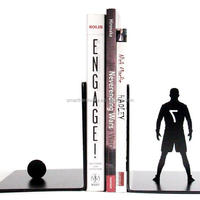FOOTBALL Player Iron Book Stand Metal