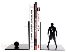 FOOTBALL player iron book stand Metal bookends