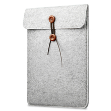 New Products 11 inch Felt Laptop Pouch Bag For Macbook Air Portable Felt Button Laptop Sleeve