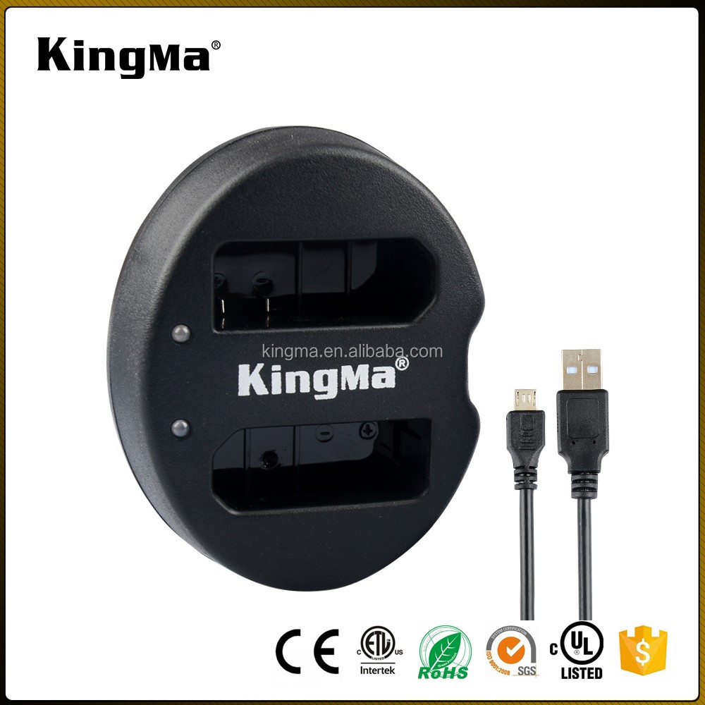 KingMa Dual Portable USB Camera EN-EL14 Battery Charger for NIkon D3100/D3200/P7000/D5100/P7100/P7700/D7800/D5200/D5300/D3300