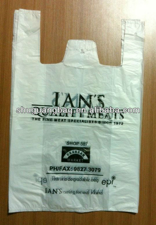 Plastic T-shirt shopping bags plastic carrier bags