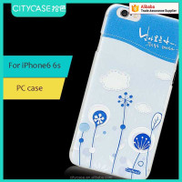 city&case flower hard plastic cell phone case for iPhone6 6s